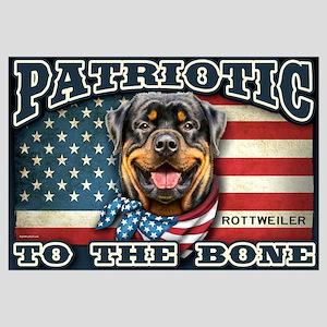 Patriotic - Rottweiler Wall Art