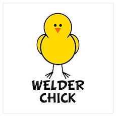 Welder Chick Wall Art Poster