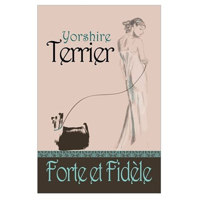 Yorshire Terrier Wall Art Poster