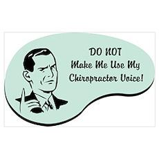 Chiropractor Voice Wall Art Poster