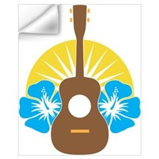 Ukulele Hibiscus Wall Art Wall Decal