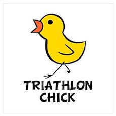 Triathlon Chick Wall Art Poster