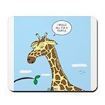 Giraffe Foraging Foibles Mousepad