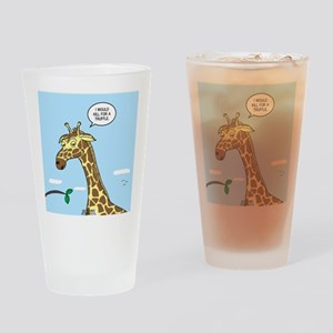 Giraffe Foraging Foibles Drinking Glass