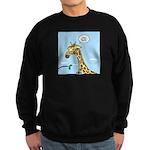Giraffe Foraging Foibles Sweatshirt (dark)