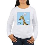 Giraffe Foraging Foibles Women's Long Sleeve T-Shi