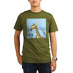 Giraffe Foraging Foibles Organic Men's T-Shirt (da