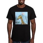 Giraffe Foraging Foibles Men's Fitted T-Shirt (dar