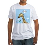 Giraffe Foraging Foibles Fitted T-Shirt