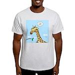 Giraffe Foraging Foibles Light T-Shirt