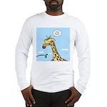 Giraffe Foraging Foibles Long Sleeve T-Shirt