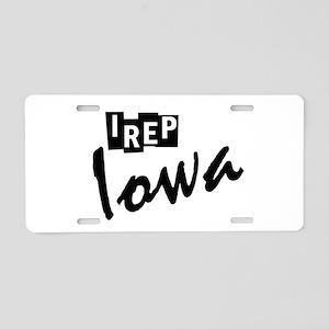I rep Iowa Aluminum License Plate