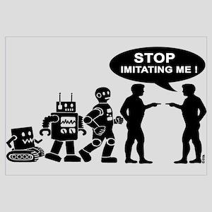 Robot evolution Wall Art