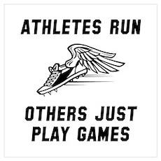 Athletes Run Wall Art Poster