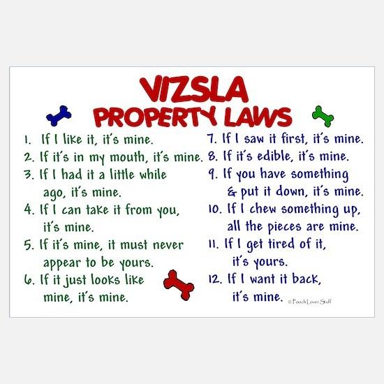 Vizsla Property Laws 2 Wall Art
