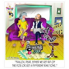 Pavlov's Ring Tone Wall Art Poster