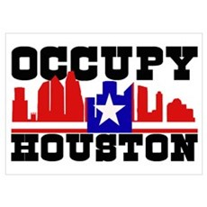 Occupy Houston Wall Art Poster