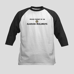Proud Parent: Alaskan Malamut Kids Baseball Jersey