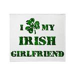 Irish Girlfriend Throw Blanket