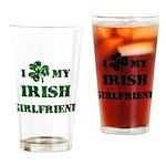 Irish Girlfriend Drinking Glass