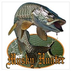 Musky hunter 9 Wall Art Poster