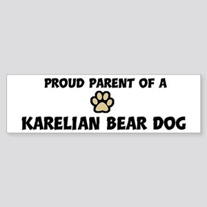 Proud Parent: Karelian Bear D Bumper Sticker