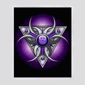 Purple Triple Crescent Moons Throw Blanket