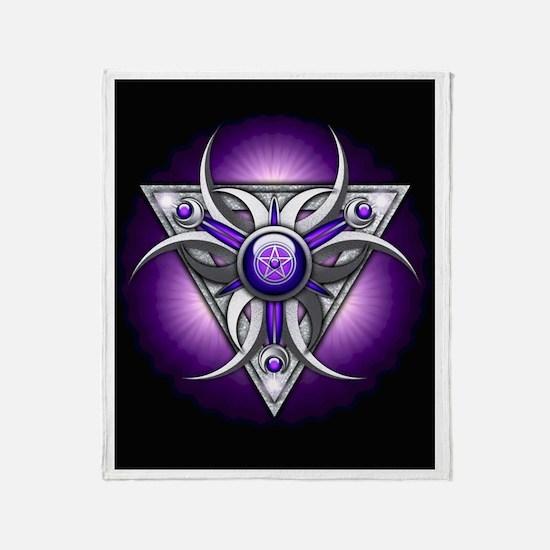Purple Triple Crescent Moons Throw Blanket