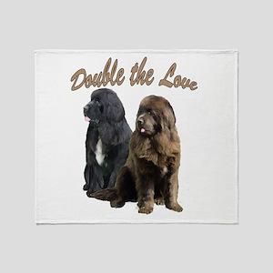 double Love Newfs Throw Blanket