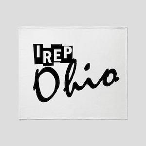 I rep Ohio Throw Blanket