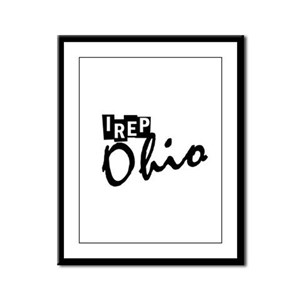 I rep Ohio Framed Panel Print