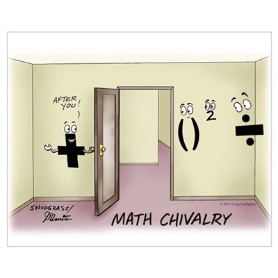 Math Chivalry Wall Art Poster