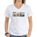 0344 - Scarf Ace Women's V-Neck T-Shirt
