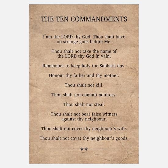 The Ten Commandments Wall Art