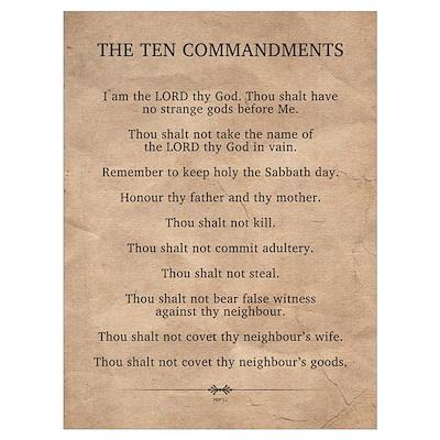 The Ten Commandments Wall Art Canvas Art