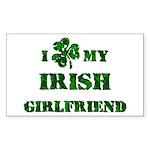 Irish Girlfriend Sticker (Rectangle)