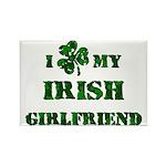 Irish Girlfriend Rectangle Magnet