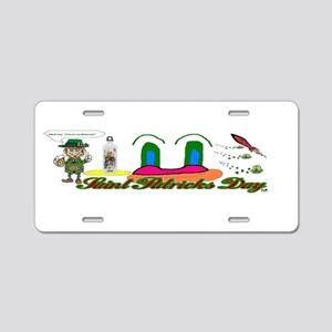 Leprechaun and Blarney Aluminum License Plate
