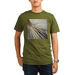 Mushroom gills organic men's T-shirt (dark)