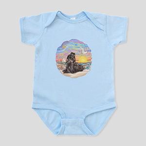 OceanSunrise-Blk Shih Tzu Infant Bodysuit