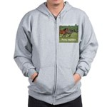 Pony zip hoodie