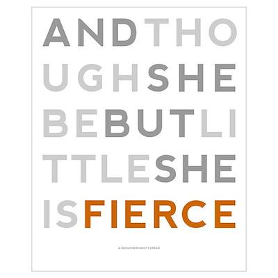 She is Fierce - Block Wall Art Poster