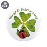"""St. Patricks Day 3.5"""" Button (10 pack)"""