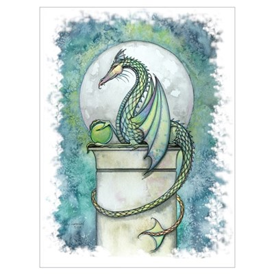 Green Dragon Wall Art Canvas Art