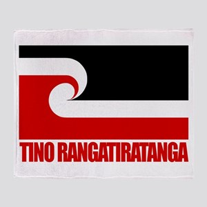 """Tino Rangatiratanga"" Throw Blanket"