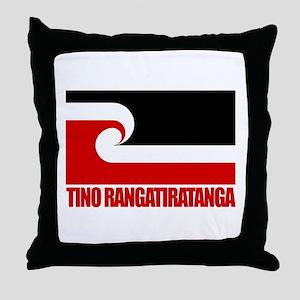 """Tino Rangatiratanga"" Throw Pillow"