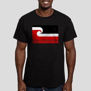 """""""Tino Rangatiratanga"""" Men's Fitted T-Shirt (dark)"""