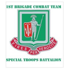 DUI - 1st BCT - Special Troops Bn with Text Mini P Poster
