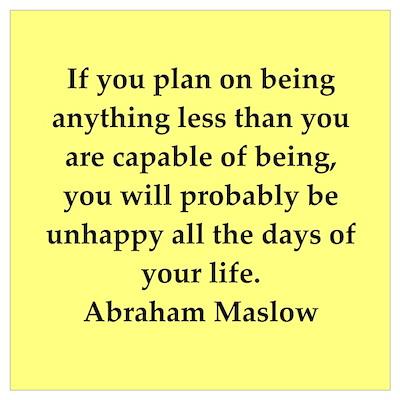 Abraham Maslow quotes Wall Art Framed Print