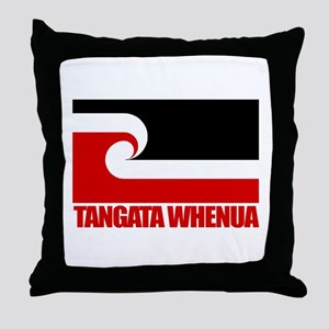 """Tangata Whenua"" Throw Pillow"